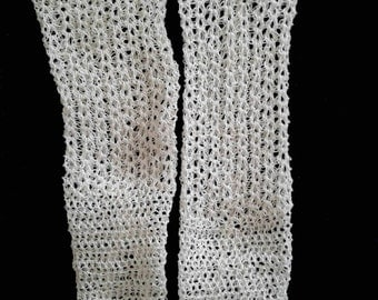 "Crocheted knee high tall doll socks fits 17-20"" antique and modern dolls"