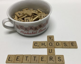 Individual Scrabble Letters - Scrabble Tiles - Choose Your Letters - Individual Letter Tiles - You Pick the Letters
