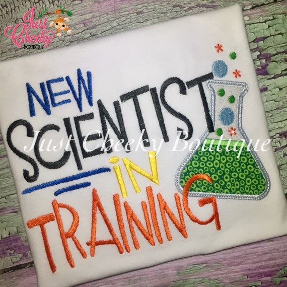 New Scientist in Training Embroidered Boys Shirt - First Day of Preschool  - Back to School - Kindergarten - Pre-k