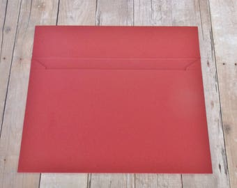 Cherry Red Matte Envelopes - 4x6 (A6) Mailable - Greeting Cards, DIY Invitation Envelopes, Wedding, Birthday, Shower Invitations - Set of 10