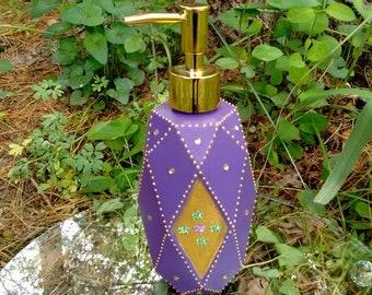 Soap/Lotion Dispenser, Bathroom Decor, Lotion Dispenser, Gift Idea, Mother's Day Gift, For Her, Birthday Gift, Purple Decor, Purple Bathroom