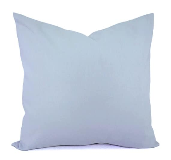 Solid Light Blue Decorative Pillow Cover Blue Pillow Cover