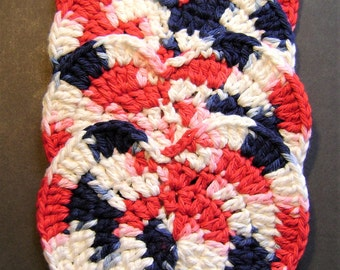 Hand Crocheted Heart Coasters set of 4