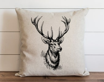 Stag 20 x 20 Pillow Cover // Everyday // Throw Pillow // Gift // Accent // Cushion Cover