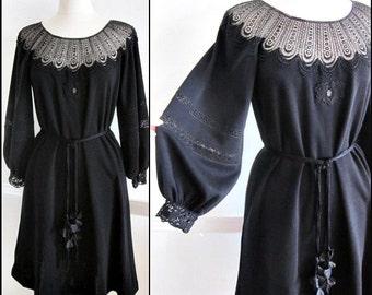 Giorgio Sant Angelo Dress / Vintage Giorgio Sant Angelo Dress / fits S-M / 70s Giorgio Sant Angelo Dress / Giorgio Sant Angelo Boho Dress