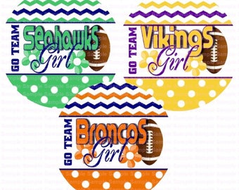 Football Go Team (3 Sheets) Bottle Cap Images 4x6 Bottlecap Collage Scrapbooking Jewelry Hairbow Center