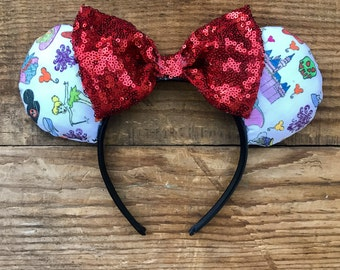 RARE Limited edition Disneyland Doodles inspired Mickey ears