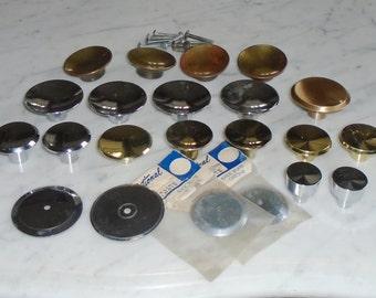 18 Vintage Amerock Ajax Concave Knob Cabinet Drawer Pull Handles- 1 - 2inch Variety