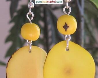 1 pair TAGUA ACAI EARRINGS eco jewelry from Peru