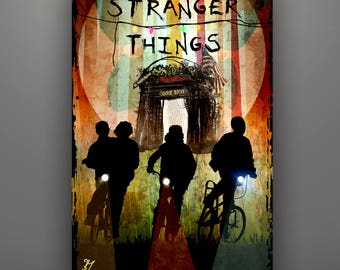 "Stranger Things Inspired ""All Friends Welcome"" Limited Edition 11X17 Artist Proof by Herofied Eleven Mike Dustin Lucas"