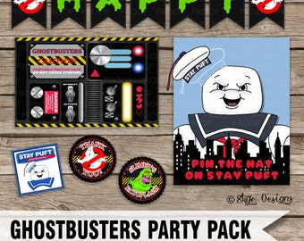 Ghostbusters Themed Birthday Party Printable Pack of Files [DIGITAL DOWNLOAD] 25% OFF!