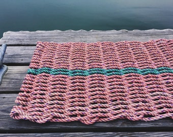 Recycled Lobster Rope Doormat, Handwoven in Maine: Machias