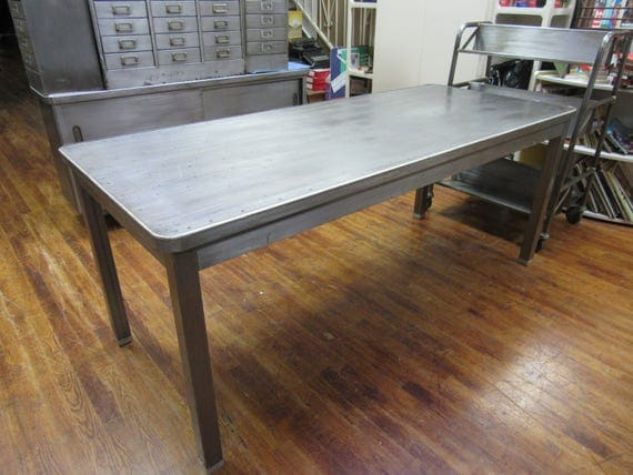 Industrial steel table or desk mid century modern