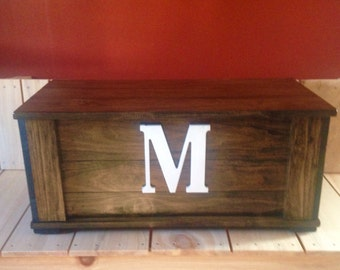 Handmade Wooden Toy Box, Custom Toy Box, Toy Storage, kids furniture, bed trunk, toy chest, toy trunk, bes chest