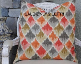 Waverly Custom Pillow Cover  20x20  Toss Pillow  Designer Pillow  Decorative Pillow Waverly Baroque Linen Pillow