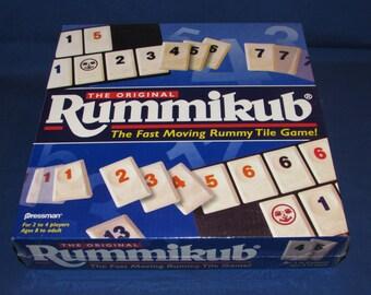 RUMMIKUB NIB 1997 Pressman Fast Moving Rummy Tile Game