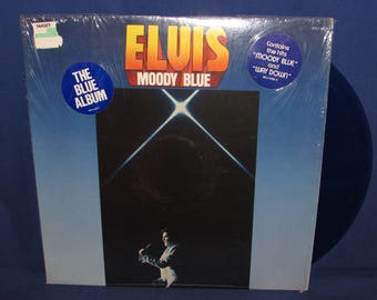 Elvis Moody Blue 1974 RCA Records AFL 1-2428 Translucent Blue Record