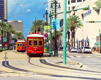 Cable Car art New Orleans wall art New Orleans photo Trolley car NOLA photography Photos of New Orleans art New Orleans photography Big easy