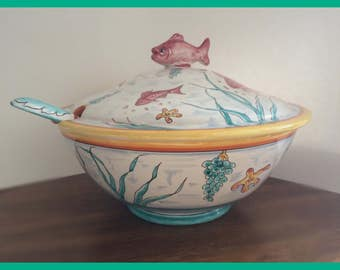 PRICE DROPPED AGAIN!! Numbered P V Italy Soup Tureen