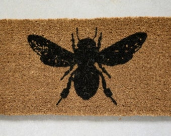 French Bee Natural Coir Doormat