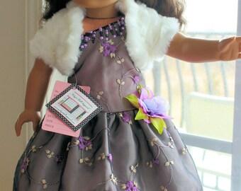 Embroidered One Shoulder Dress
