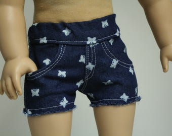 """18 inch Doll Shorts, Jean Shorts, Fit American Girl Doll, 18 inch Doll Shorts,  Denim Doll Jeans, Girl Doll Jeans, 18"""" Doll Jeans"""