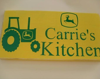 Old Famers Personalized Kitchen Sign