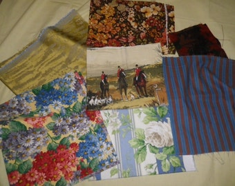 Vintage Cotton Fabric Bundle for Patchwork Quilting and Craft. (12)