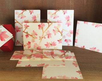 Sakura Blossom Stationery Set