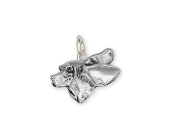 Basset Hound Charm Jewelry Sterling Silver Handmade Dog Charm BH4-C