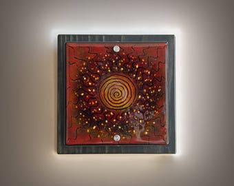 Fused Glass Wall Art - Into the Fire