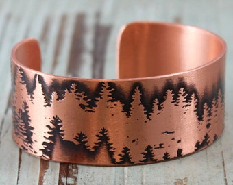 Forest for the Trees, Copper Cuff Bracelet