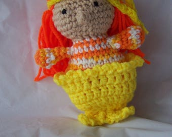 Sister Mary Sunshine Doll, mini doll with long orange hair and a mermaid tail!
