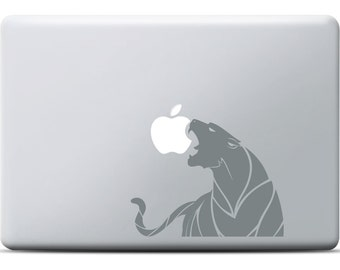 Tiger MacBook Sticker, MacBook Pro, MacBook Air, Vinyl decal, Laptop sticker apple, Grey and graph design with tiger, Zoo, Animal, Africa