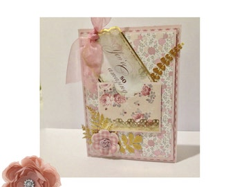 Handmade birthday Card, Your so Amazing, Birthday Greetings, Pink, 3D Card, Special Card, Vintage Style Card