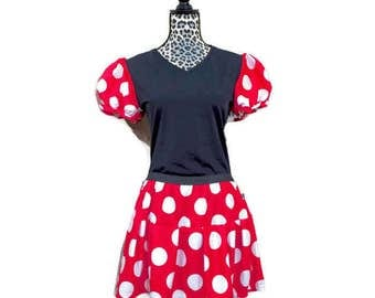 Minnie Mouse Running Costume -Skirt and shirt