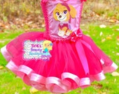 Inspired by Paw Patrol Skye Tutu Ribbon Dress/Photography Prop/Halloween Costume/Halloween Character Dress/Pageant Wear/Ribbon Tutu Dress