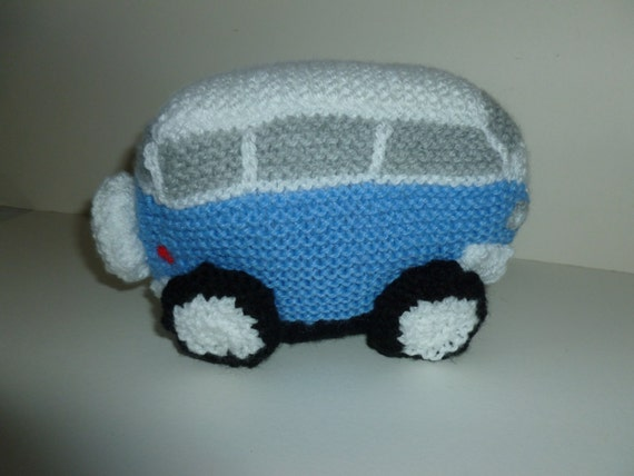 Vw Campervan Knitting Pattern : Knitted Volkswagen Camper Van