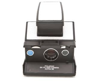 Polaroid SX-70 Alpha SE - New White Leather Covering - Reconditioned and Film Tested - Guaranteed Working