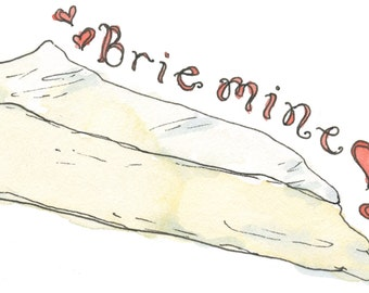 Brie Mine Greeting Card