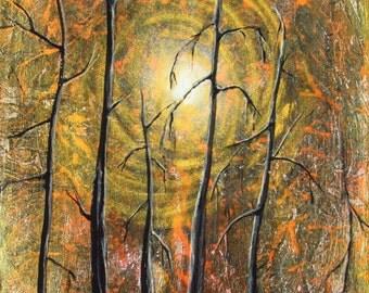 Fall forest scene , autumn scene , autumn art , Essence of Autumn