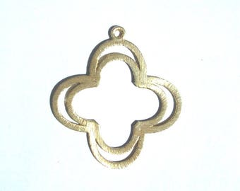 Plated Copper Component, Quatrefoil, Earring Component, Jewelry Making Supply, Jewelry Finding, Plated Copper, Hoop Earring, Clover Shape