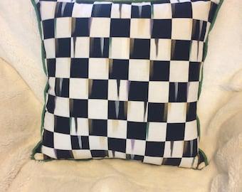 Black and white checks pillows!! 16X16