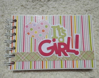 4x6  Its a Girl Baby Chipboard Mini Scrapbook