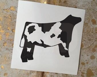 Shorthorn Show Cattle Steer Vinyl Sticker