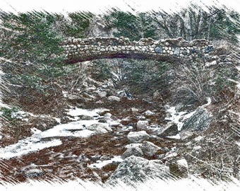 Cobble Stone Bridge Sketch