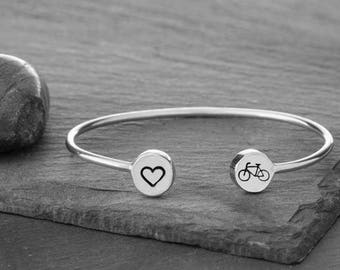 Bicycle Bracelet, Bike Bracelet, Bicycle Jewelry, Bike Jewelry, Cycling Bracelet, Bicycle Charm, Sports Bracelet, Bicycle, Bike