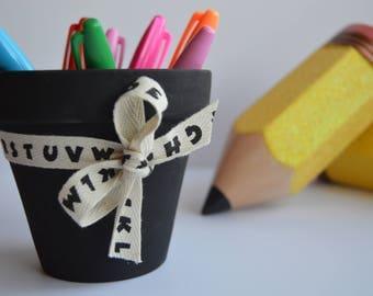 Chalkboard Planting Pot, Teacher Planting Pot, Teacher Gift, Teacher Appreciation Gift