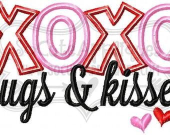 XOXO Hugs and Kisses!!  Embroidered Shirt, Bodysuit, Burp Cloth, Dish Towel and more!