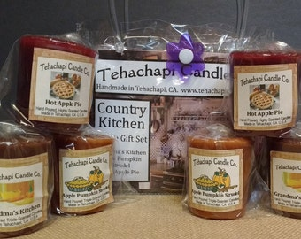 Votives, Votive Candle, Scented Candle, Cinnamon Candle, Candle Gift, Home Fragrance, Gift Set: Country Kitchen